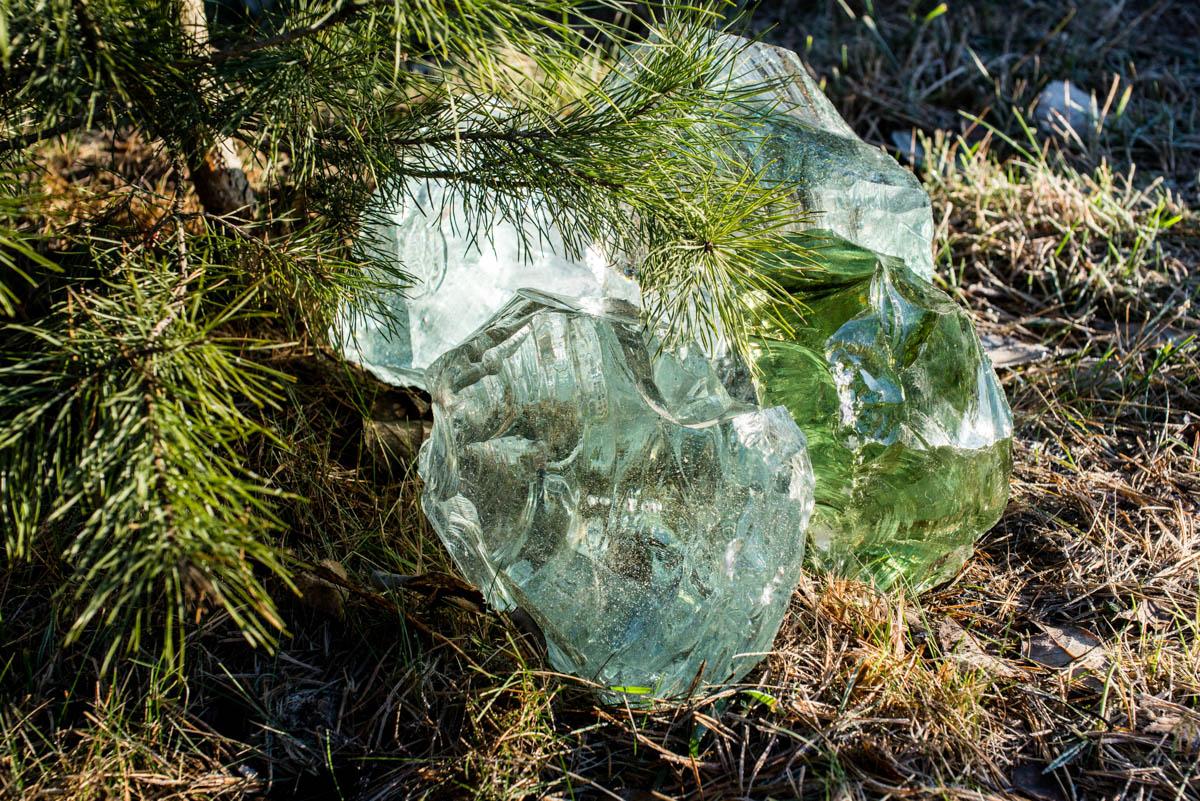 Стеклянные камни в Минске