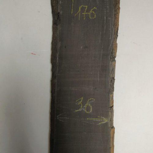 Доска дуба мореного сухая №DDM_004 <br> размер 176*35-40*5