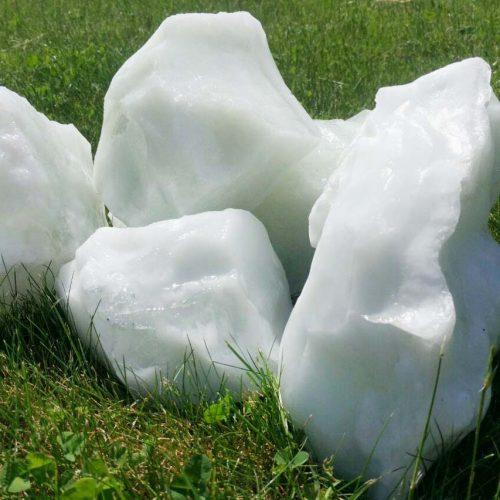 Эрклез (камень из стекла) белый. Цена указана за 1кг
